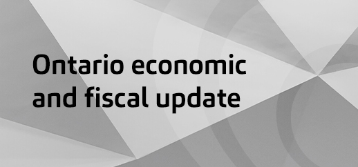 ON economic and fiscal update