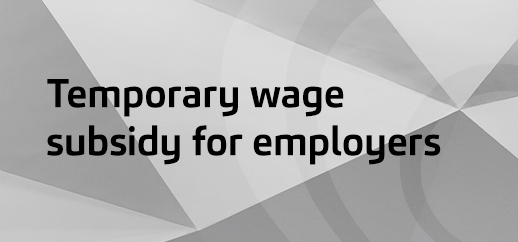 Temporary wage subsidy for employers